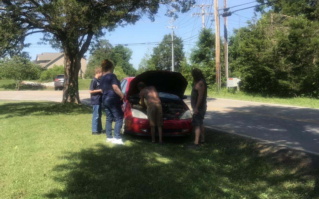 A broken down car & the graciousness of God